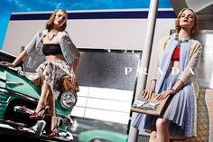 Prada Spring 2012 Ad Campaign, Ymre Stiekema, Guinevere van Seenus,  photographed by Steven Meisel
