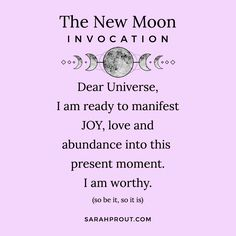 New Moon Rituals and The Power of Intention Setting - Sarah Prout New Moon Rituals, Full Moon Ritual, New Moon June, Full Moon In June, Moon Astrology, Astrology Signs, Moon Spells, Magic Spells, Moon Quotes