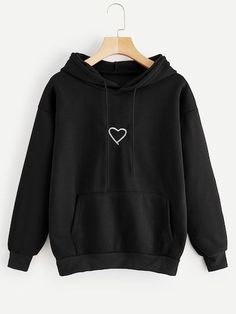 Read more The post Shop Heart Print Drawstring Kangaroo Pocket Hoodie online. ROMWE offers Heart Pr… appeared first on How To Be Trendy. Stylish Hoodies, Unique Hoodies, Cool Hoodies, Hoodies For Girls, Womans Hoodies, Colorful Hoodies, Girls Fashion Clothes, Teen Fashion Outfits, Grunge Outfits