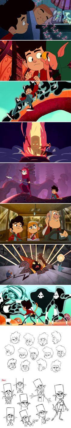"""Eddie of the Realms Eternal"" TV series project by Cartoon Saloon studio (The Secret of Kells, Song of the Sea)."