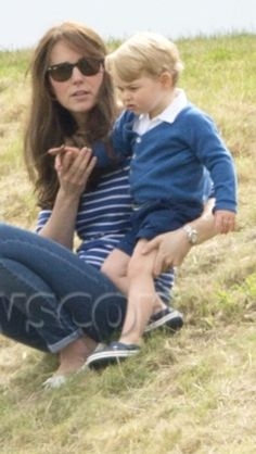The Duchess of Cambridge and Prince George at Beaufort Polo Club   June 14, 2015