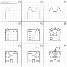 How to draw a house.