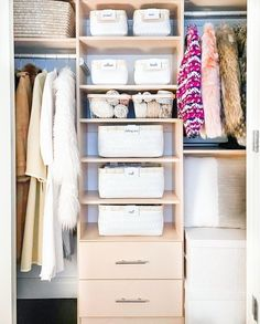 Fashion Look Featuring Container Store Kitchen Storage by thehomeedit - ShopStyle Organizing Walk In Closet, Organizing Paperwork, Closet Storage, Kitchen Storage, Organising, Pantry Organisation, Closet Organization, Storage Boxes With Lids, Storage Baskets