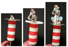 Cat in the hat with a toilet paper roll