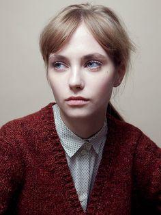 Pale skin with peach lips | Samuji Pre-Fall 2013. Photo by Ville Varumo, styling by Minttu Vesala