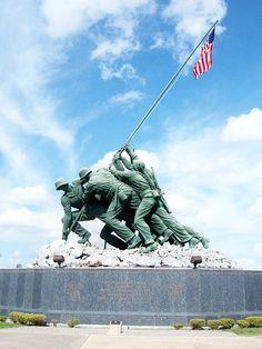 Iwo Jima Memorial, Harlingen, Texas - original full-size plaster model of the famous bronze sculpture in Washington, DC.