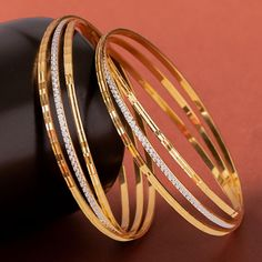 Plain Gold Bangles jewellery for Women by jewelegance. ✔ Certified Hallmark Premium Gold Jewellery At Best Price