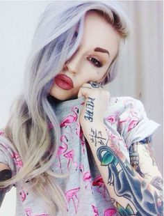 ✝☮✿★ COLORFUL HAIR & TATTOOS ✝☯★☮