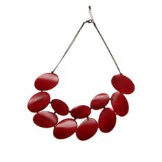 Elk Accessories - Collections - classics - Wooden Jewellery - Short Disc Plate Necklace