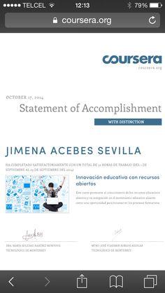 Reconocimiento de participación en el MOOC innovación educativa con recursos abiertos.