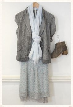 Sim Clan jacket, £79.95 Sim Clan floral dress, £80 Lauren Vidal Skirt, £59 Sandwich scarf, £19 Cara boots, £99 Tutti necklace, £35