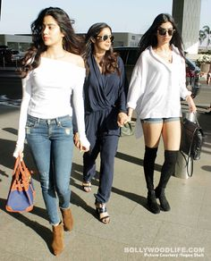 Sridevi Kapoor with daughters Jhanvi and Khushi are a style squad you'd want to be a part of – view HQ pics #FansnStars
