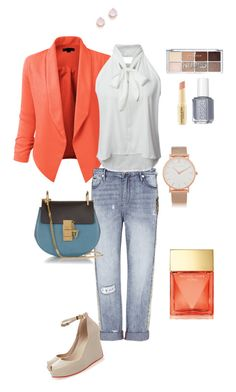 """""""coral and teal"""" by ulusia-1 ❤ liked on Polyvore featuring LE3NO, sass & bide, Melissa, Chloé, Michael Kors, Napoleon Perdis, Essie, Larsson & Jennings and Kate Spade"""