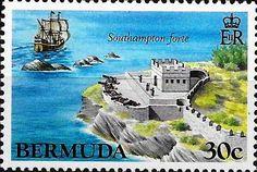 Bermuda forts stamp 3