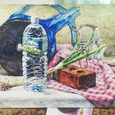 플라스틱의자수채화 - Google 검색 Arches, Still Life, Art For Kids, Folk Art, Art Drawings, Mixed Media, Pastel, Watercolor, Rock