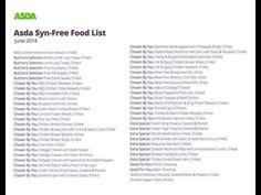 Slimming World - Asda Syn-Free Food List