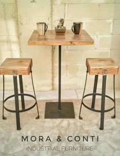 Reclaimed industrial cafe pub bistro table decor pinterest bakery cafe cafe restaurant industrial living stools rustic wood homemade home decor iron dna banquettes malvernweather Images