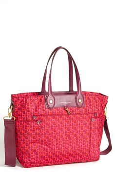 MARC BY MARC JACOBS Pink Print Diaper Bag