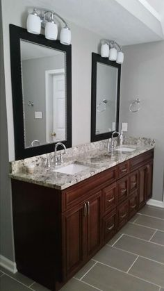 ashen white ganite bathroom vanity install for the whitley family knoxvilles stone interiors showroom located at 3900 middlebrook pike knoxvill