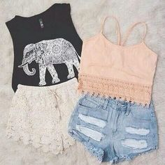 lace and shorts~~