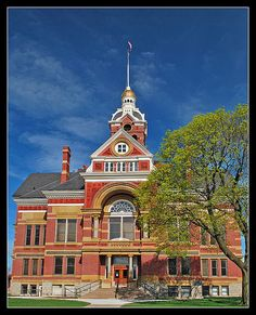 Lenawee County Courthouse in Adrian, MI is on the National Register of Historic Places.