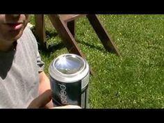 HOW TO START A FIRE WITH A SODA CAN and char cloth !  http://www.youtube.com/watch?v=yTdY-dOYvSA