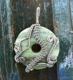 Eunoia - Pendant handmade wire wrapped stone gypsy jewelry. $20.00, via Etsy.