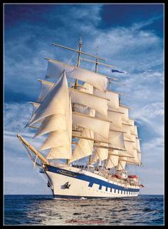 Great Sailing Ship - Counted Cross Stitch Patterns - Printable Chart PDF Format Needlework Embroidery Crafts DIY DMC color