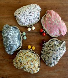 Coin purses. So cute and a great way to gather up that loose change in the bottom of your purse.