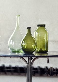 STIL INSPIRATION - Olsson & Jensen autumn news. Green glass vases