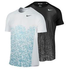 Men`s Advantage UV Graphic Tennis Crew Sport Shirt Design, Sports Jersey Design, Sport T Shirt, Nike Outfits, Sport Outfits, Camisa Nike, Mens Workout Shirts, Professional Dresses, Tennis Clothes
