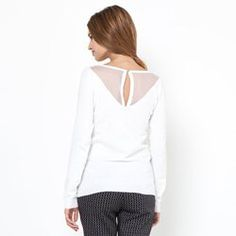 Pull plastron plumetis Pull, Tops, Women, Fashion, Open Shoulder Top, Spring Summer 2015, Womens Fashion, Moda, Fashion Styles