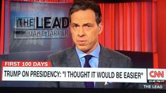 "I got to say... I'm really loving this, take no prisoners reporting style! Jake ""Throwing Shade All Over"" Tapper is fast becoming a favorite of mine...."