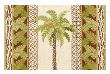 Palm Tree Hooked Rug 2' x 3' by C & F Enterprises at The Country Porch
