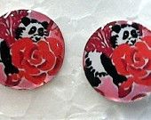 Lilly Pulitzer INSPIRED  Alpha Omicron Pi earrings. Look at those pandas! :)