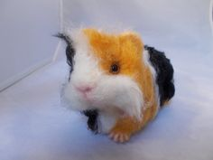 Needle Felted Guinea Pig Reserved for Corrine OOAK by grannancan, $50.00