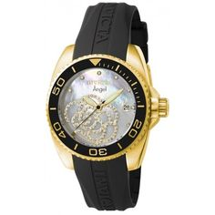 Now $99 + Free Shipping at www.mtlcollection.com ! See a 360 view of this beauty here: http://www.mtlcollection.com/women/22-invicta-women-s-0489-angel-quartz-3-hand-platinum-dial-watch.html