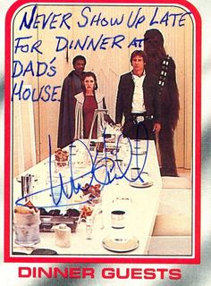 "These ""Star Wars"" Autographs From Mark Hamill Are Hilariously Unexpected. After writing ""May The Force Be With You"" 10,000 times, it can get pretty monotonous so the man forever known as Luke Skywalker likes to shake it up and write something funny on the picture, sometimes at the request of the fan and sometimes he'll ask them if it's ok to adlib something for the picture. But If it's a 9-year-old boy who wants 'May the Force be with you,' that's what he's going to get."""