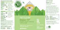 Basic H2® Organic Super Cleaning Concentrate.  Throw out the toxic cleaning products in your house and switch to      Basic H.  This stuff is amazing and is my go to cleaner for around the house.