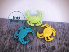 Items similar to BOLD cast iron crab set // lime green turquoise yellow decor / nautical beach coastal decor / shabby chic paperweight // wedding table decor on Etsy Cast Iron, It Cast, Housewarming Gift Baskets, Geometric Bear, Christmas Gifts For Her, Retirement Gifts, Metal Wall Decor, Green Turquoise, Shabby Chic Decor