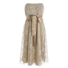 Gold bridesmaid dresses..