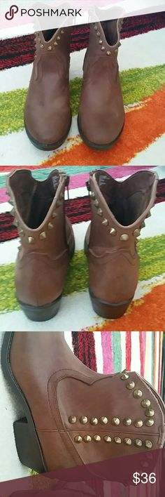 Studded ankle cowboy boots Brand new mossimno Mossimo Supply Co Shoes Ankle Boots & Booties