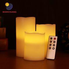 Bright 2 Pcs Superior Romance Led Flash Flameless Candle Light Lamp Bithday Dinner Spa Party Pub Room Decor Stylish Candles