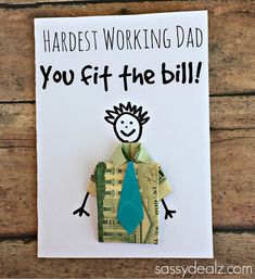 origami shirt fathers day card