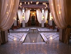 """Interior courtyard of the """"Royal Mansour"""" hotel in Medina. Sigh. (photo by Slim Paley)"""
