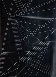 black and white illustration, graphic, geometric, white lines, angles, triangles