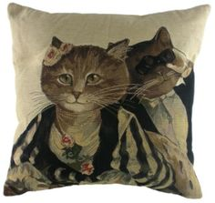 Susan Herbert Tapestry Cushion theater cats http://www.colonialsoldier.com/ac796/