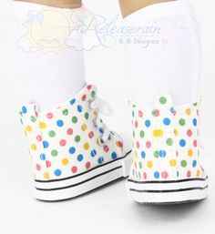 Cons Canvas LaceUp Sneakers Boots Doll Shoes Ivory par Releaserain