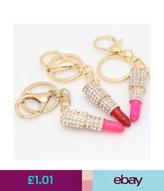 Automobiles & Motorcycles pink Keychain Sparkling Keyring Blingbling Crystal Rhinestones Purse Pendant Handbag Decoration Holiday Gift Key Rings