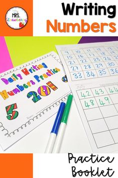 This daily writing numbers booklet has proved to be highly beneficial for my students. After being used every single morning for the entire year, every single child's ability to write numbers improved significantly. This is brilliant for catering for different abilities in your classroom. I have had students writing numbers in the 20s, while their classmates are writing into the millions! You can also extend your higher students by asking them to write by 2s, 3s, 5s, etc; or write backwards. Phonics Activities, Math Resources, Number Recognition Activities, First Grade Classroom, Australian Curriculum, Writing Numbers, Help Teaching, Writing Practice, First Day Of School